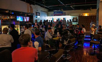 The Sportsman Bangkok - downstairs bar busy